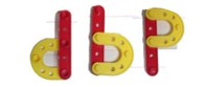 "This is an image of the letters ""d"", ""b"", and ""p"" placed next to each other"