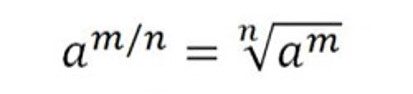 This image shows two algebraic equations that incorporate use of  superscript with letters positioned above the baseline of each equations
